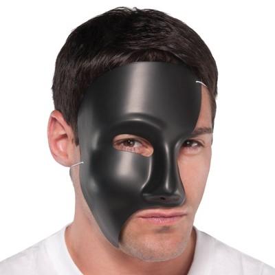 Adult Phantom Black Mask Accessory Halloween Costume