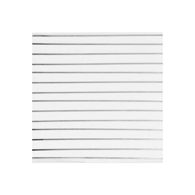 30ct Disposable Lunch Napkins Silver - Spritz™
