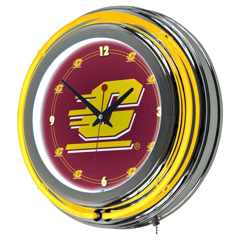 NCAA Central Michigan Chippewas Neon Clock - 14
