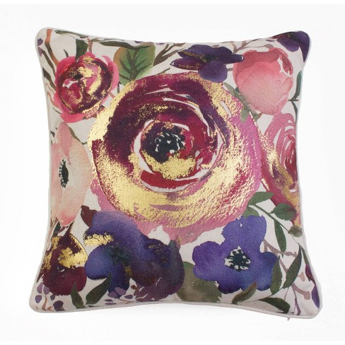 Joinelle Floral Oversize Square Throw Pillow - Dcor Therapy - image 1 of 4