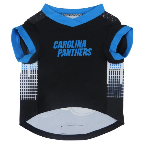Carolina Panthers Little Earth Pet Performance Football T-Shirt - Black L    Target cfe86b747