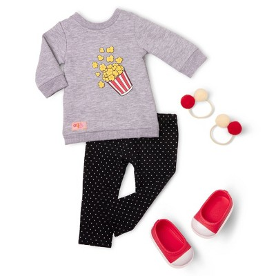 """Our Generation Popcorn Movie Outfit for 18"""" Dolls - Pop-Pop Top"""