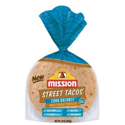 Mission Street Tacos Carb Balance Whole Wheat Tacos - 10oz/12ct