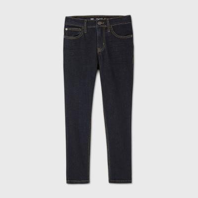 Boys' Stretch Skinny Fit Jeans - Cat & Jack™ Dark Blue