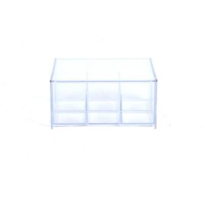 Mind Reader Acrylic Tea Bag Storage & Organizer 6 Compartment Tea Bag Holder with Lid, Clear