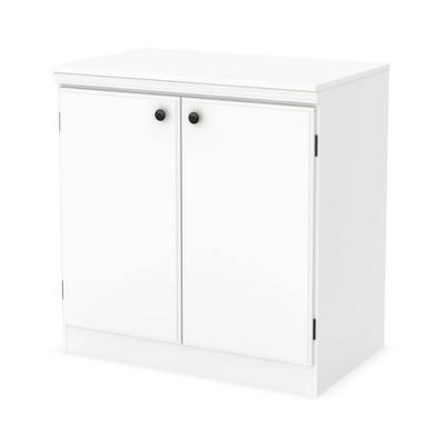 Morgan 2 Door Storage Cabinet Pure White - South Shore