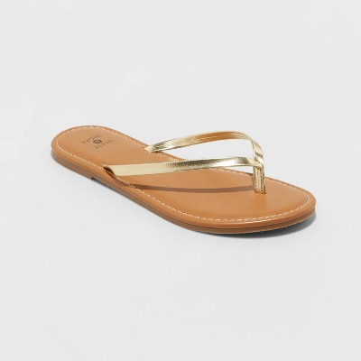 Women's Ava Skinny Strap Flip Flop Sandals - Shade and Shore™