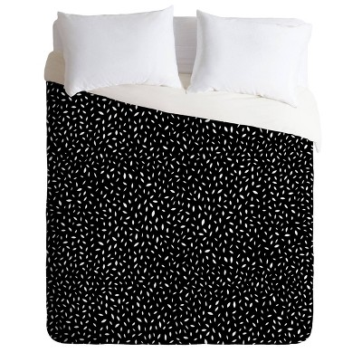 Queen/Full Iveta Abolina Amara Duvet Set Black - Deny Designs