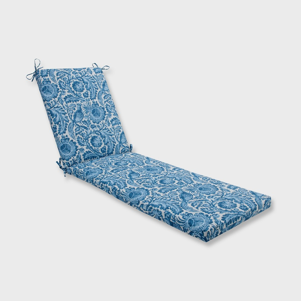 Tucker Resist Outdoor Chaise Lounge Cushion Azure Blue - Pillow Perfect