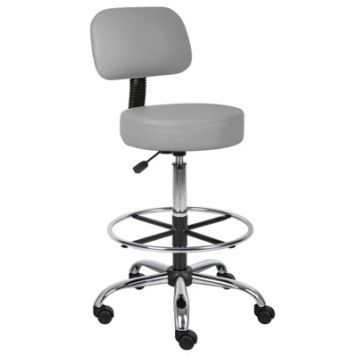Medical/Drafting Stool with Back Cushion - Boss Office Products