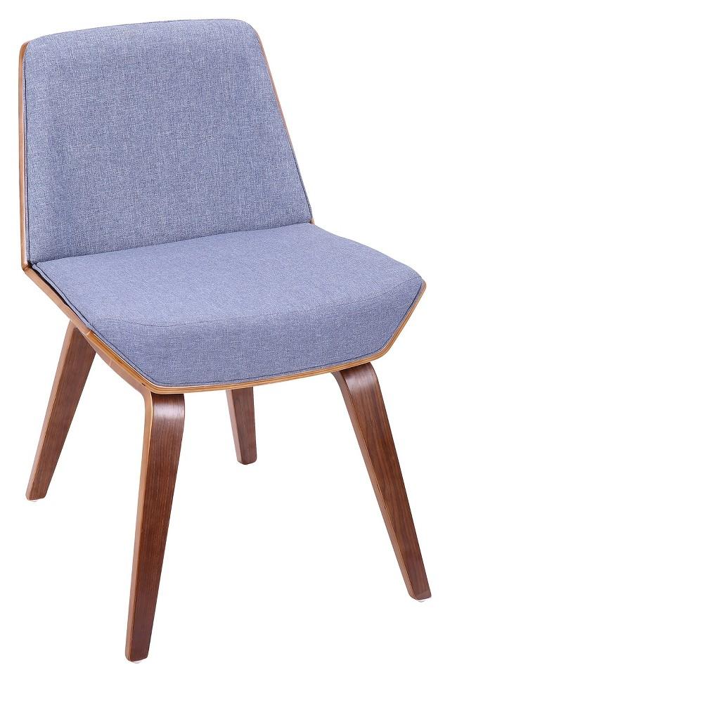 Lumisource Corazza Mid Century Modern Chair Blue