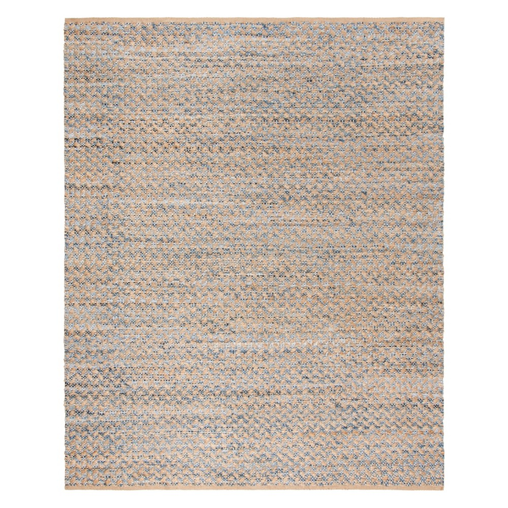 8'X10' Crosshatch Woven Area Rug Blue/Natural - Safavieh