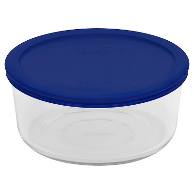 Pyrex 7 Cup Round Storage Container Blue