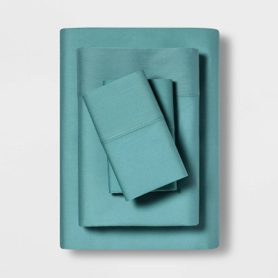 Queen Temperature Balancing Solid Sheet Set Teal - Made By Design™