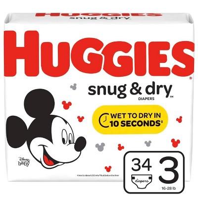 Huggies Snug & Dry Diapers - Size 3 (34ct)
