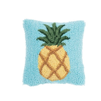 """C&F Home 8"""" x 8"""" Pineapple Hooked Petite Pillow"""