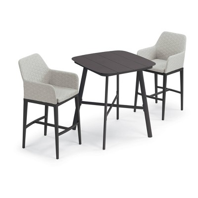 """Eiland Patio Set with 36"""" Square Table & Oland Bar Chairs - Oxford Garden"""