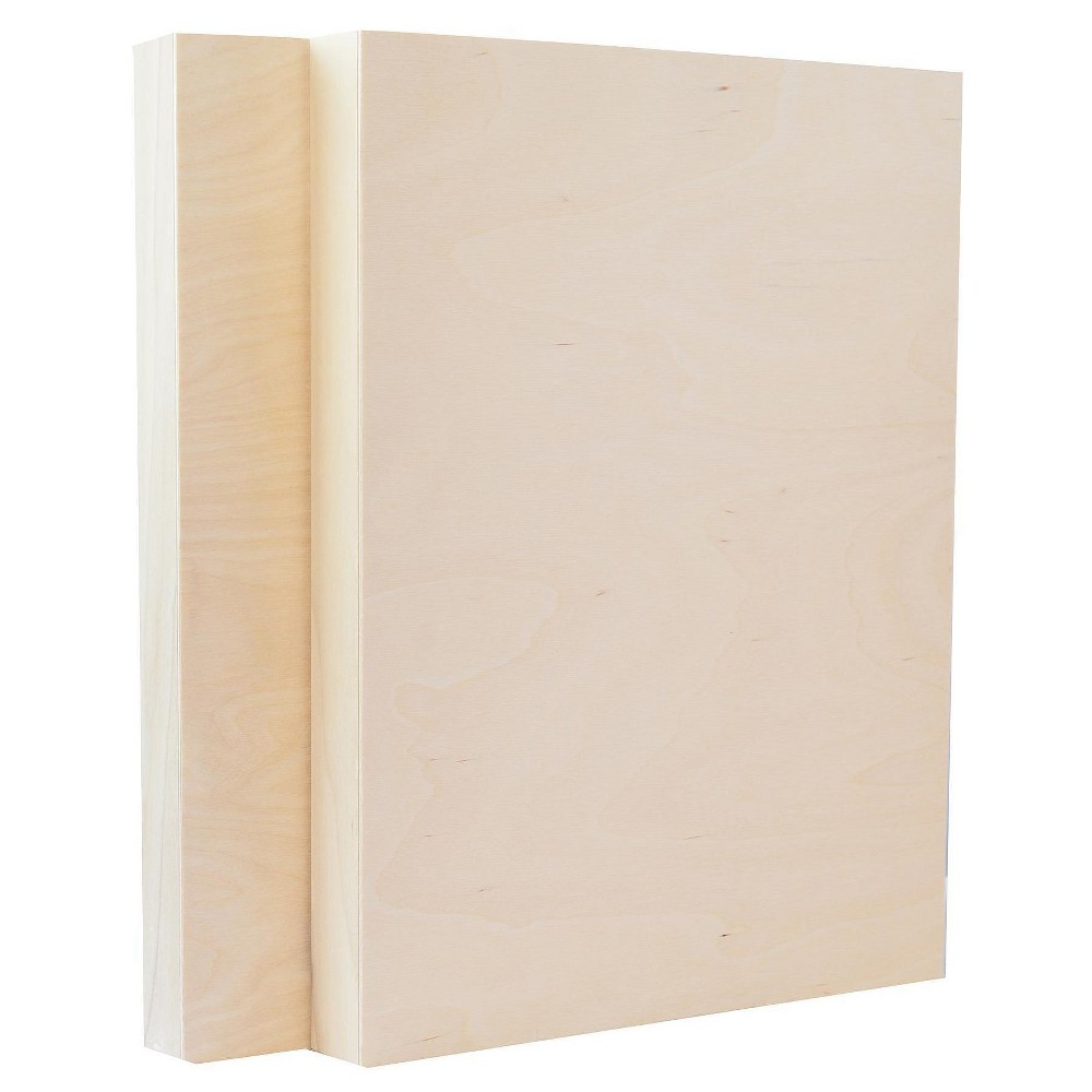 American Easel Cradled Wood Painting Panel, 12x16 - 2pk, White