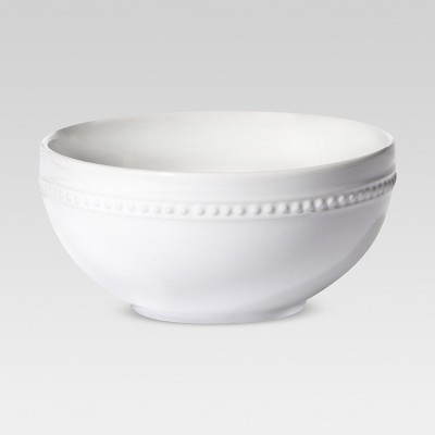 Porcelain Beaded Rim Cereal Bowl 20oz White - Threshold™
