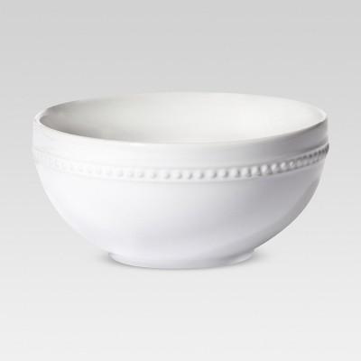 Porcelain Beaded Rim Cereal Bowl 20oz White - Threshold™