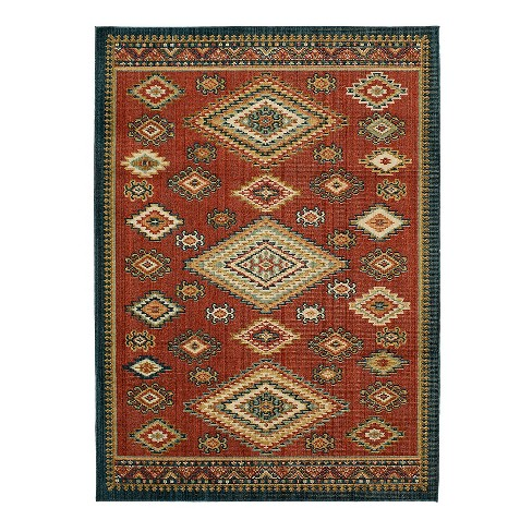 Navy Red Southwest Woven Rug Threshold Target