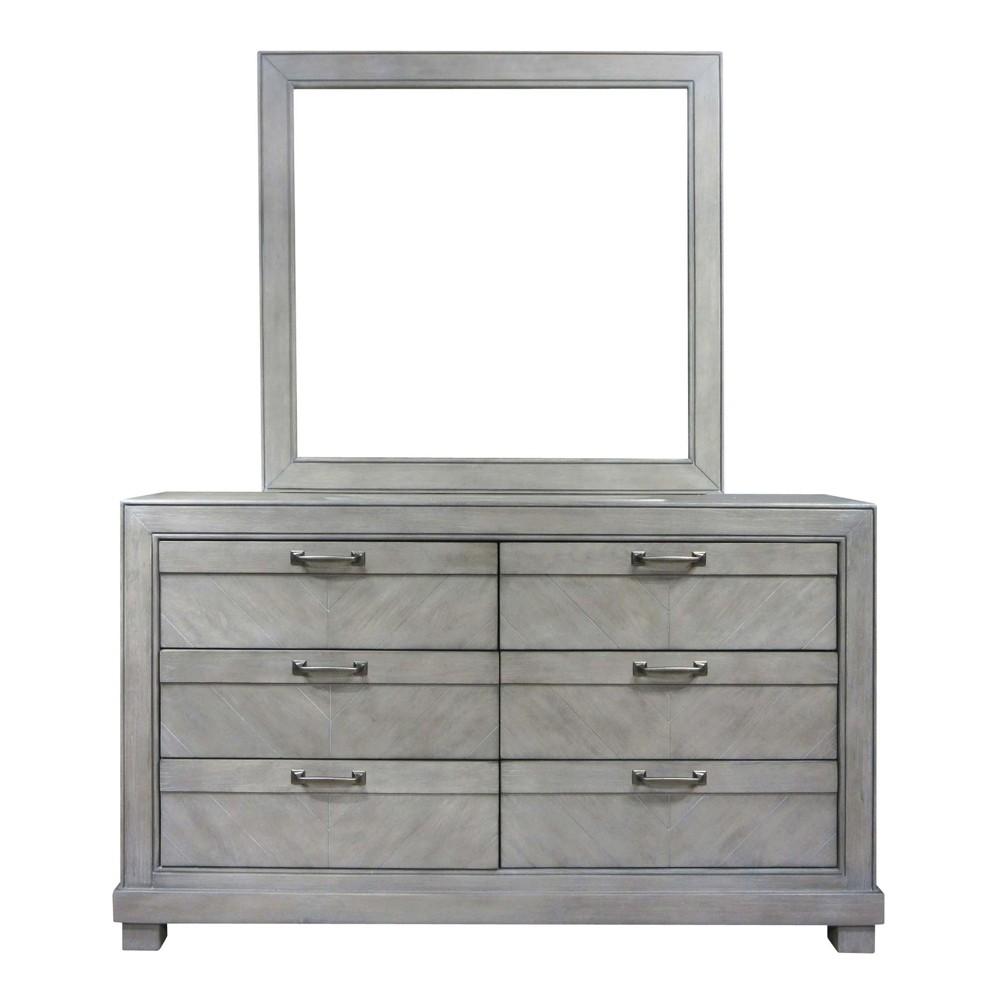 Montana 6 Drawers Dresser Gray - Steve Silver