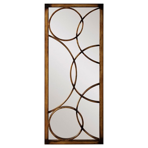 Rectangle Brittany Decorative Wall Mirror Brown - Howard Elliott - image 1 of 1