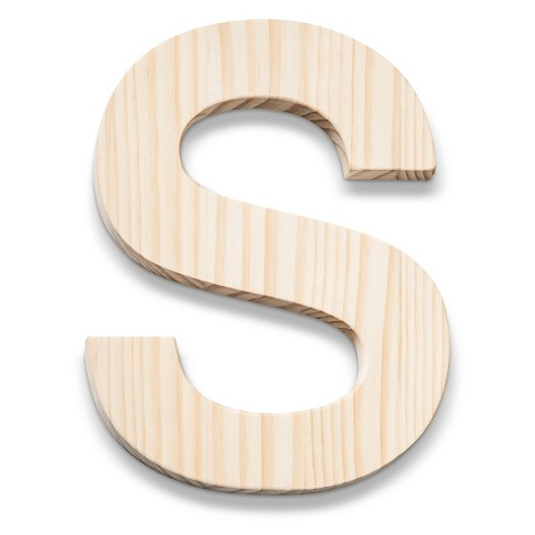 Hand Made Modern - Wood Letter Large - S - image 1 of 4