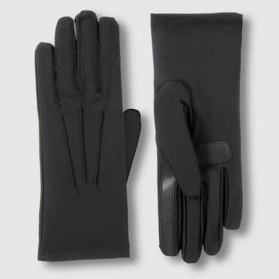 Isotoner Women's Lined Spandex Space Dye Gloves - Black
