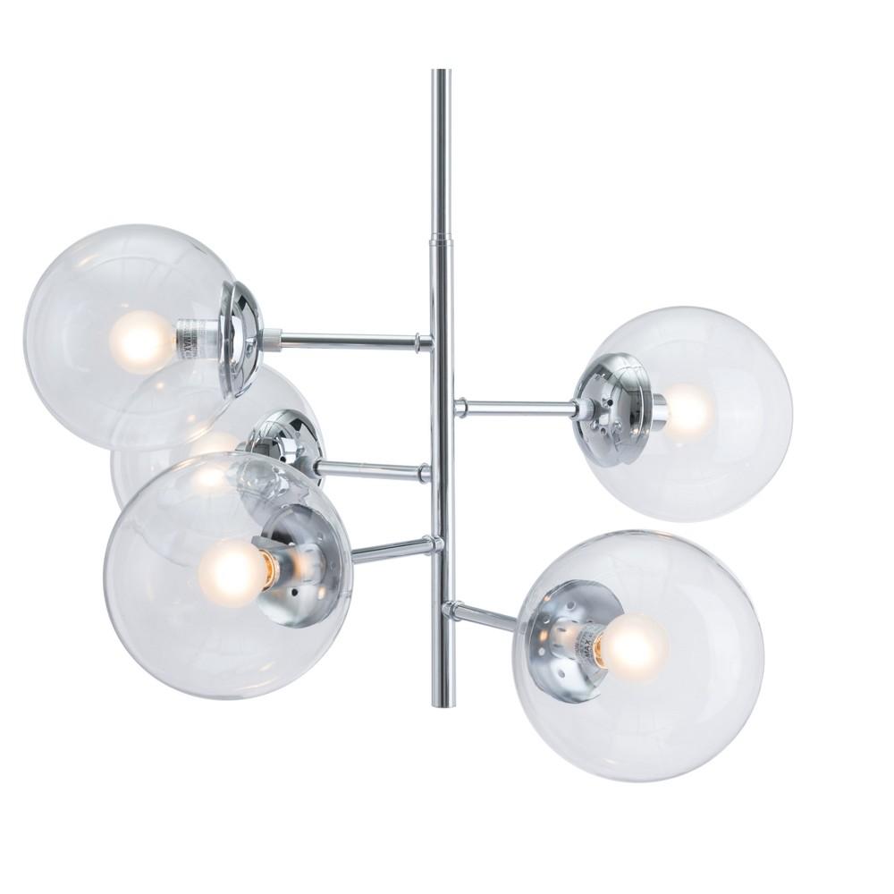 Modern Multi-Tier 25 Chrome (Grey) Ceiling Lamp - ZM Home