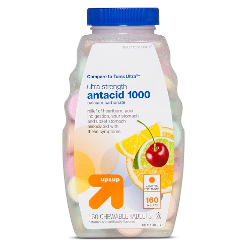 Ultra Strength Antacid Assorted Fruit Chewable Tablets - 160ct - Up&Up™ - image 1 of 1