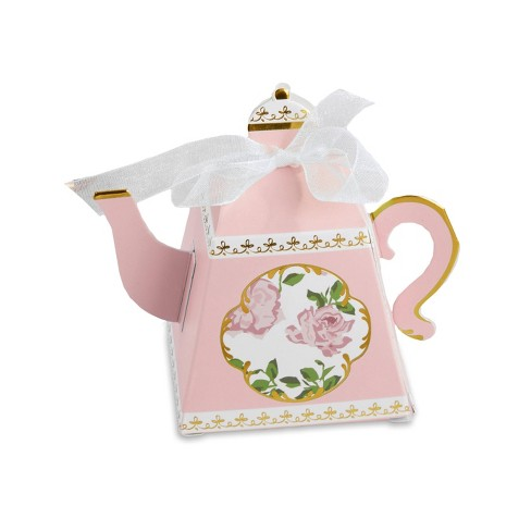 24ct Tea Time Teapot Favor Box Pink - image 1 of 4