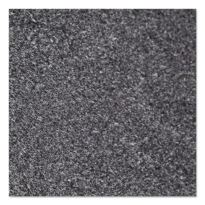 2'x3' Rectangle Solid Floor Mat Black - Crown