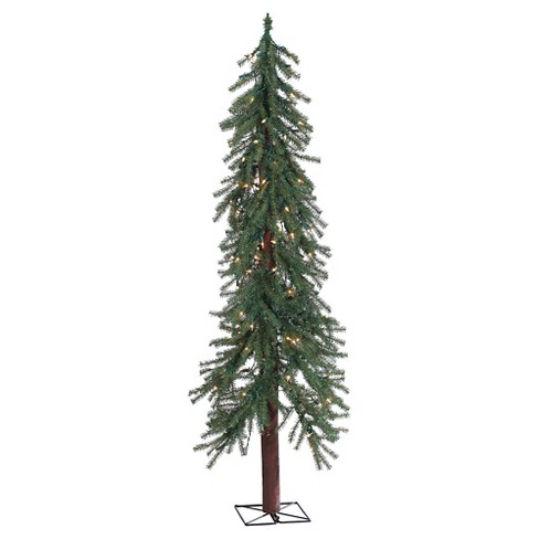 5ft Pre-Lit Slim Artificial Christmas Tree Alpine - Clear Lights : Target - 5ft Pre-Lit Slim Artificial Christmas Tree Alpine - Clear Lights