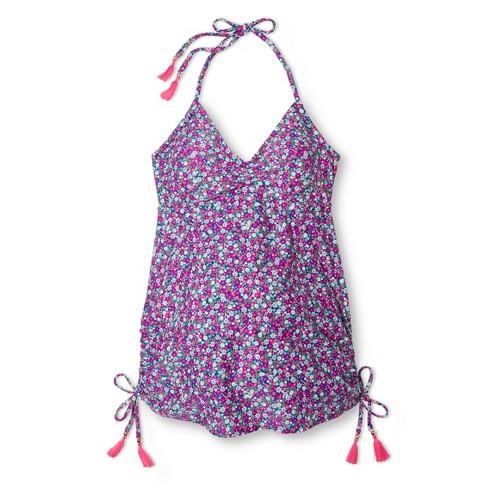 6a57357069 Maternity Swim Side Tie Halter Tankini Tops Pink XXL - Liz Lange For ...