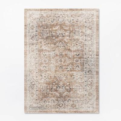 5'x7' Woven Persian Border Rug Rust - Threshold™ designed with Studio McGee