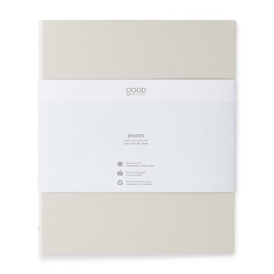 """1"""" 200 sheet Round Ring Binder Charcoal - Good Office Day"""