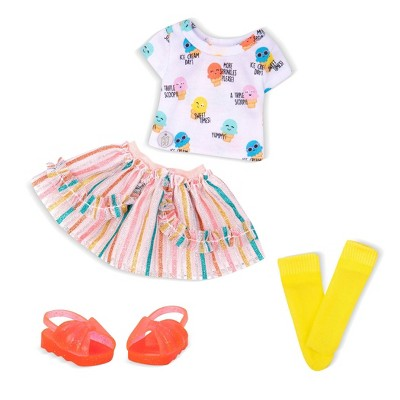 """Glitter Girls Rainbow Flavors Ice Cream Outfit for 14"""" Dolls"""