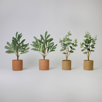 """4ct 6"""" Potted Artificial Trees - Bullseye's Playground™"""