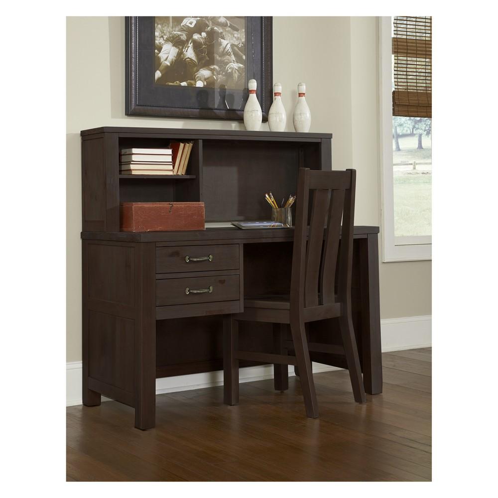 Image of Highlands Desk with Hutch Espresso - Hillsdale Furniture, Brown