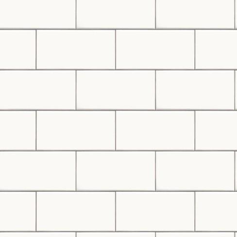 Devine Color Textured Subway Tile Peel & Stick Wallpaper Black/White - Threshold™ - image 1 of 4
