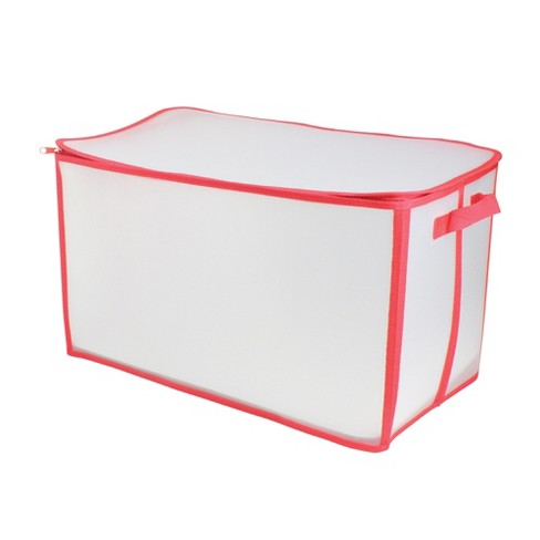 "Northlight 21"" White and Red Solid Zip Up Christmas Storage Bag - image 1 of 2"