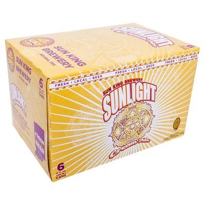Sun King Sunlight Cream Ale Beer - 6pk/12 fl oz Cans