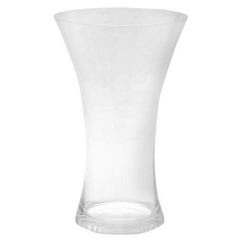 "10""x6"" Glass Curved Vase - Diamond Star - image 1 of 1"