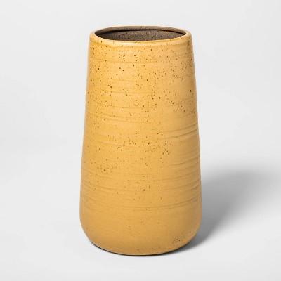 8.2  x 5.5  Stoneware Bottle Vase Beige - Threshold™