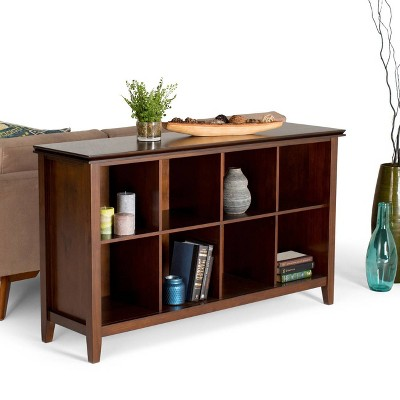 Exceptionnel Stratford Solid Wood 8 Cube Storage Sofa Table Medium Auburn Brown    Wyndenhall