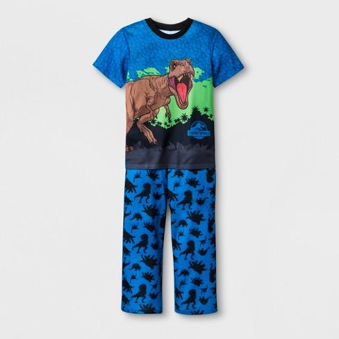 Boys' Jurassic World 2pc Pajama Set - Blue - image 1 of 1
