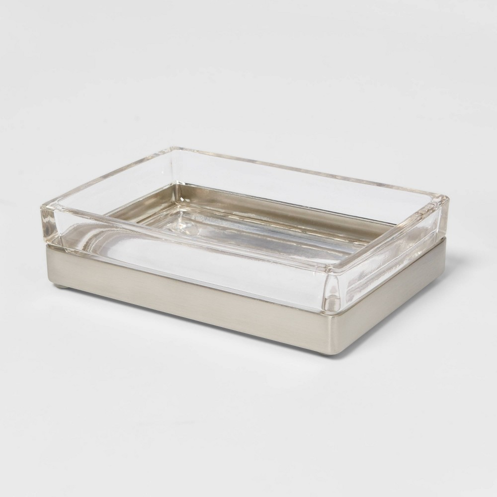 Rectangle Glass With Metal Soap Dish Clear Project 62 8482