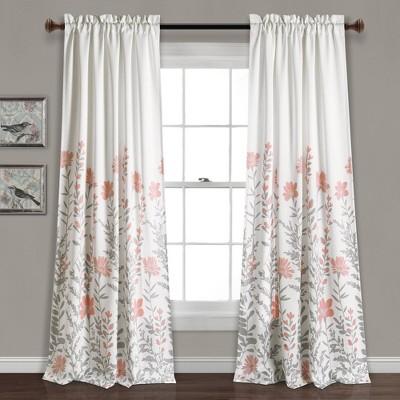 Set of 2 Aprile Room Darkening Window Curtain Panels - Lush Décor