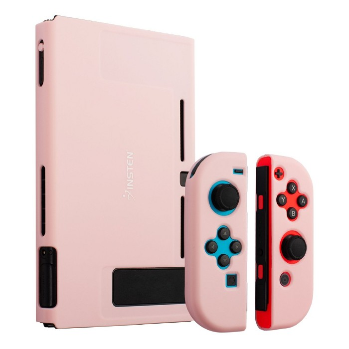 Insten For Nintendo Switch Dockable Protective Hard Case Cover Compatible With Nintendo Switch Console And Joycon, Cherry Pink : Target